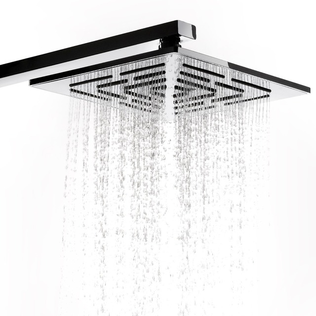 12 Inch (30 CM) Stainless Steel Square Rain Shower Head. 556 Holes ...