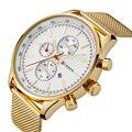 CURREN Relógio Homens relógio de Ouro Marca de Luxo Relógios Famosos Militar Masculino Relógio de Quartzo Relógio de Ouro De Quartzo-relógio Relogio masculino