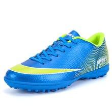 2018 Turf zapatos de fútbol para hombre de corte duro adolescente Boy  deportes al aire libre zapatillas de fútbol formación TF f. a266d1eb27873