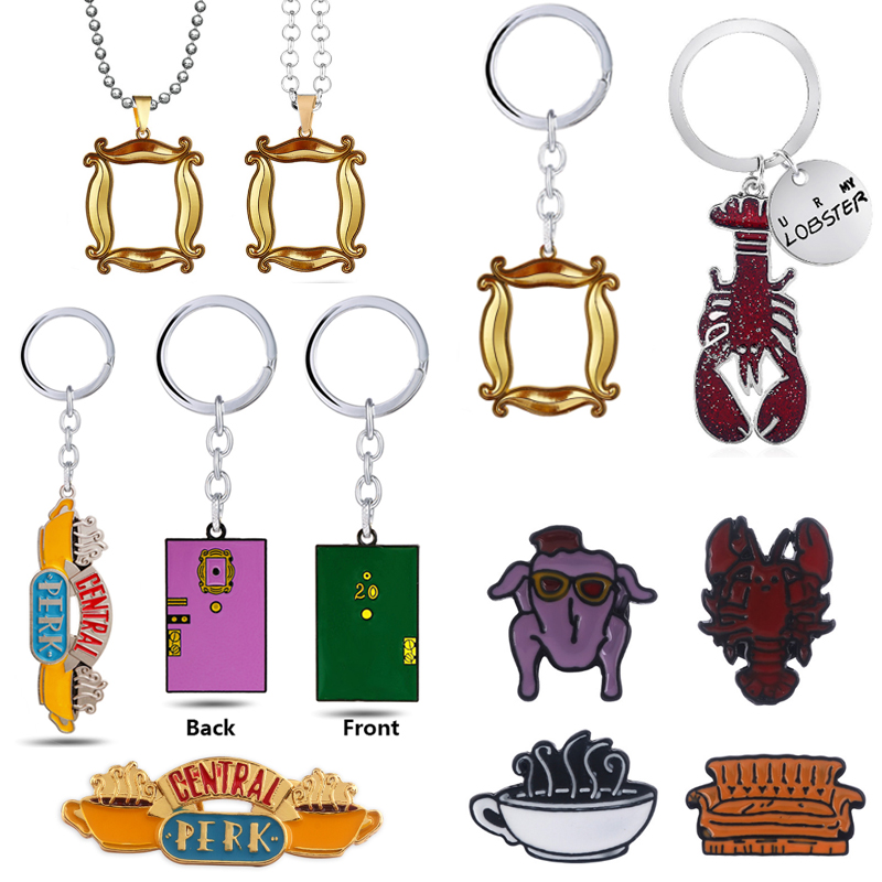 American TV Show Friends Keychain Central Perk Coffee Time Pendant Keyring For Best Friend Car Key Chains llavero Jewelry Gift image