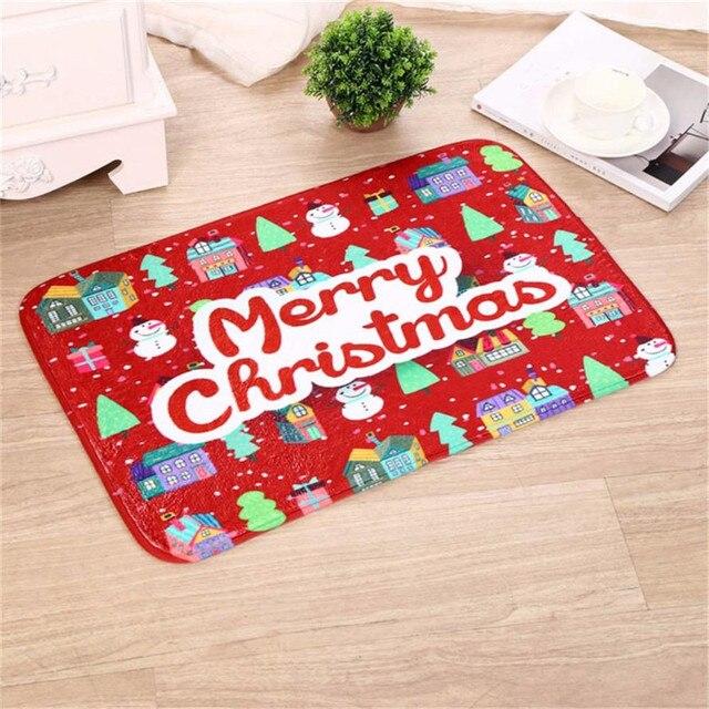 Merry Christmas Welcome Doormat 40*60CM Bathroom Decor Carpet Rug  Snowman/Elk/Santa