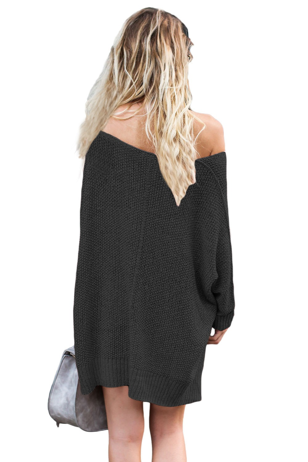 Black-Oversized-Knit-High-low-Slit-Side-Sweater-LC27680-2-3