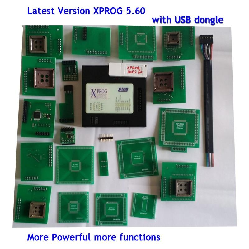 Latest Version XPROG-M V5.70  XPROG-M V5.60 X-PROG Box ECU Programmer with USB Dongle цена и фото