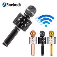wireless bluetooth microphone WS858 professional condenser karaoke mic stand radio mikrofon studio recording WS 858