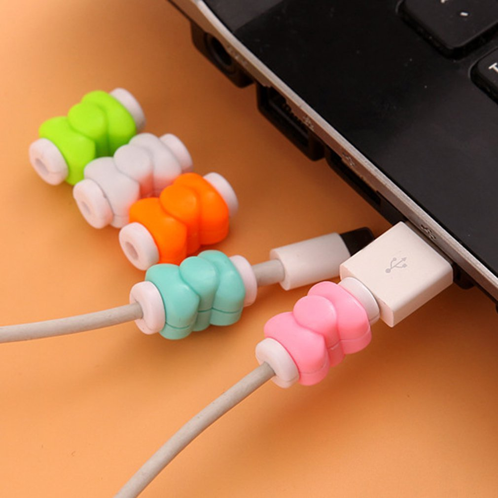 Protector Wire-Cover Cable-Winder-Protective-Case-Saver Earphone Cartoon Charger Sleeve