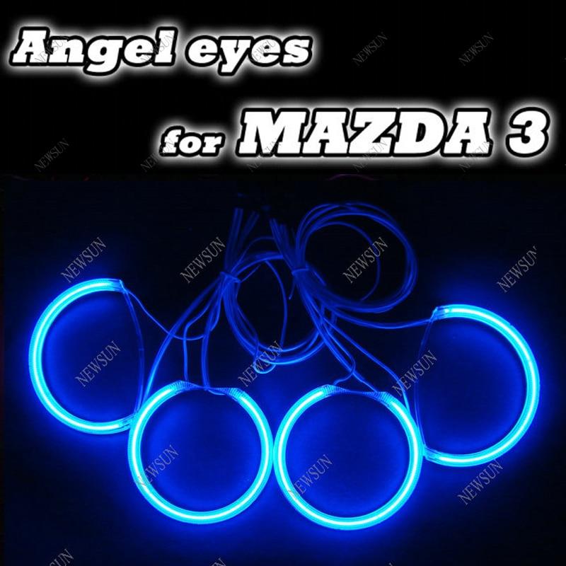Colorful CCFL ANGEL EYES HALO RING KIT with inverters FOR MAZDA 3 SEDAN HATCHBACK  04-08  white/red/bule/yellow halo ring kit цены онлайн