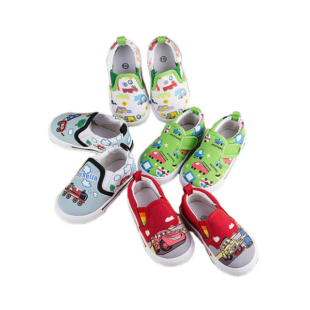 lovely causal baby canvas shoes cute cartoon pattern style prewalker shoes for 9M-3yrs baby newborn infantil first walker shoes