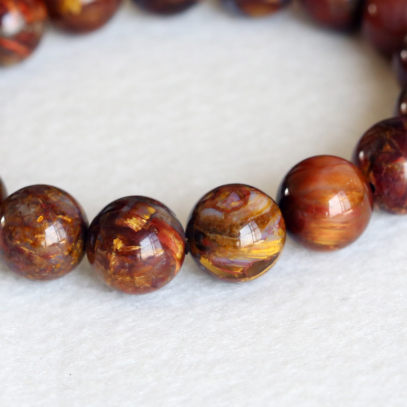 Natural Genuine A Zambia Blue Brown Pietersite Stretch Men's Stretch Finish Bracelet Round Big beads 12mm 04331 недорого