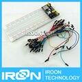 3.3 V/5 V Breadboard power module + 830 pontos kit placa Solderless Prototype Pão + 70 ponte Flexível fios