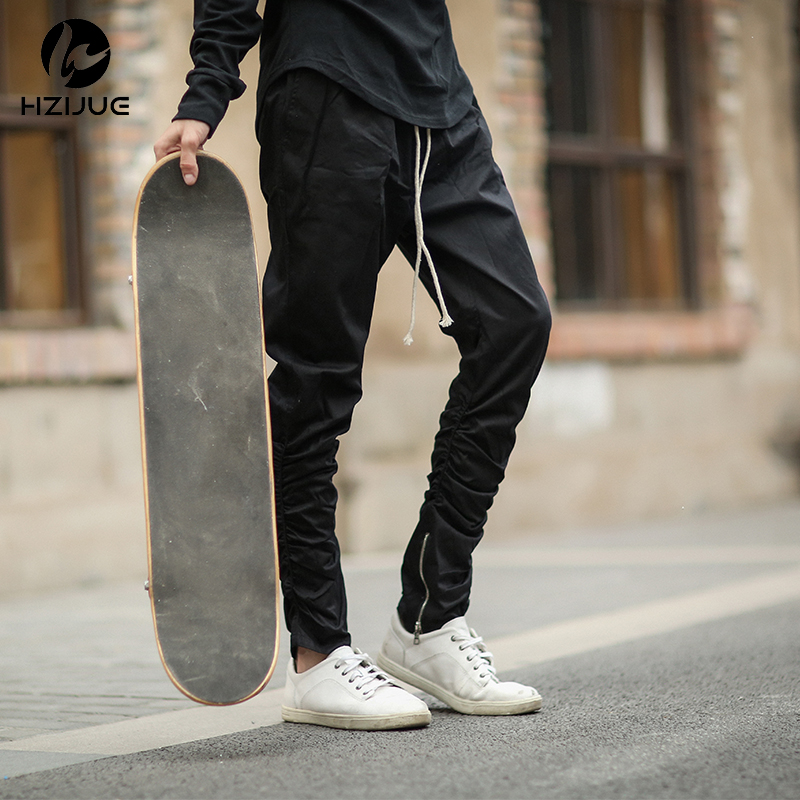 Justin bieber seitlichem reißverschluss Männer slim fit Lässige Herren Hip Hop jogger biker hosen Beute Jogginghose röhrenhose strahl fuß hosen