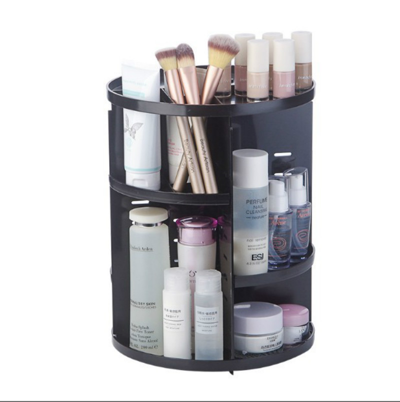 Makeup Organizer 360 Degree Rotation Adjustable Multi-Function Cosmetic Storager, Large Capacity Fits Different Type of Cosmetic