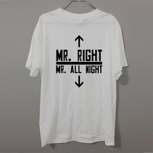 bbd8628c8 Casual Mr Right Sex Gifts For Boyfriend Dirty Joke T Shirts Short Sleeve  Graphic O-