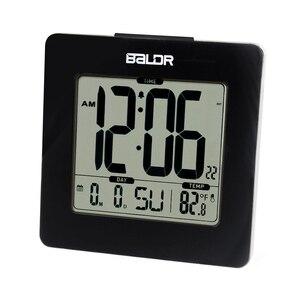 Image 2 - BALDR ميزان الحرارة الرقمي غفوة ساعة تنبيه الأزرق الخلفية LCD الجدول التقويم ساعة الوقت مكتب داخلي درجة الحرارة جهاز قياس الاستشعار