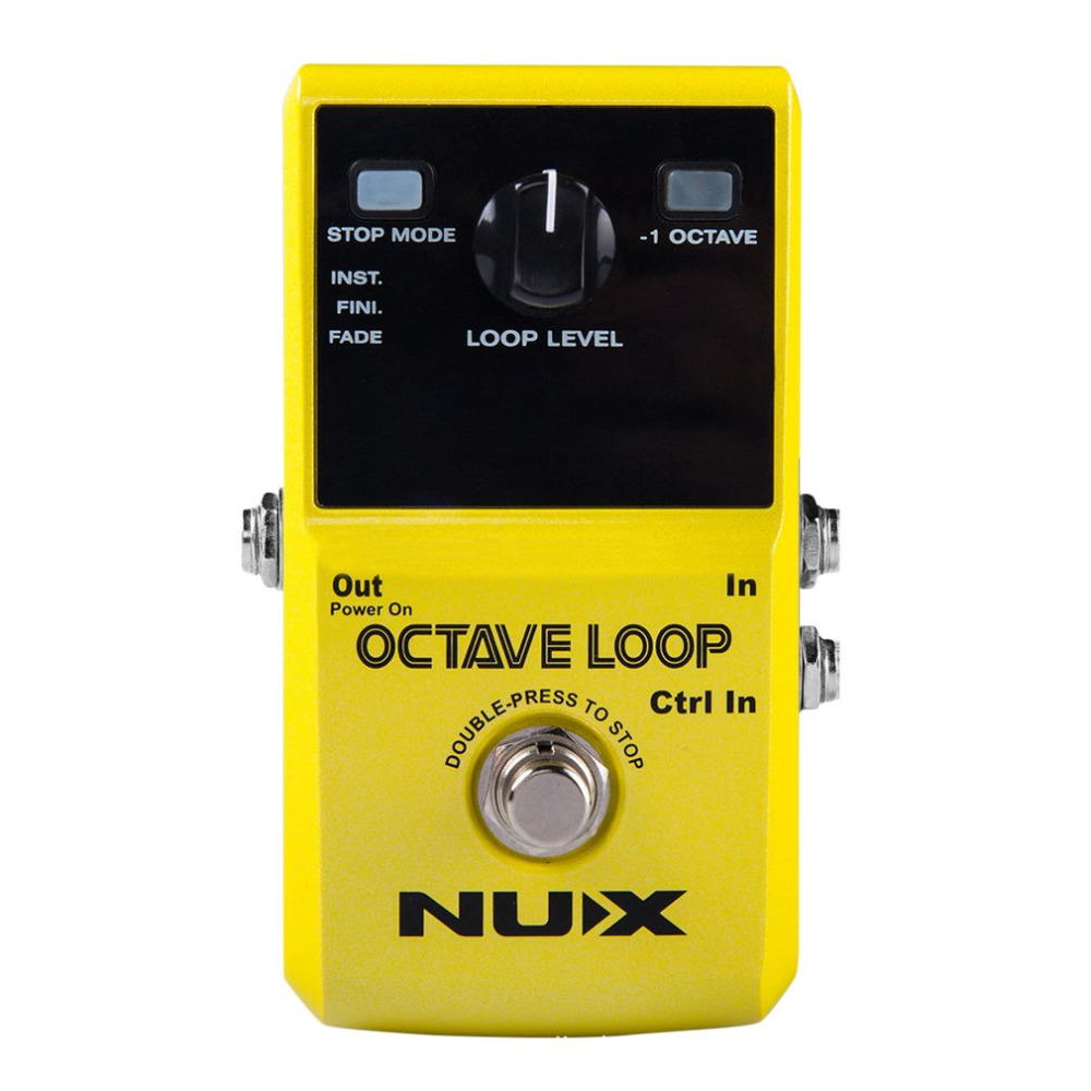 NUX Octave Loop Lever Guitar Effect Pedal Lopper Music Studio 10 Minutes Recording 24-bit Uncompressed Professional Tools Yellow free shipping phrase loop core loop pedal block effect drum machine circular pedal