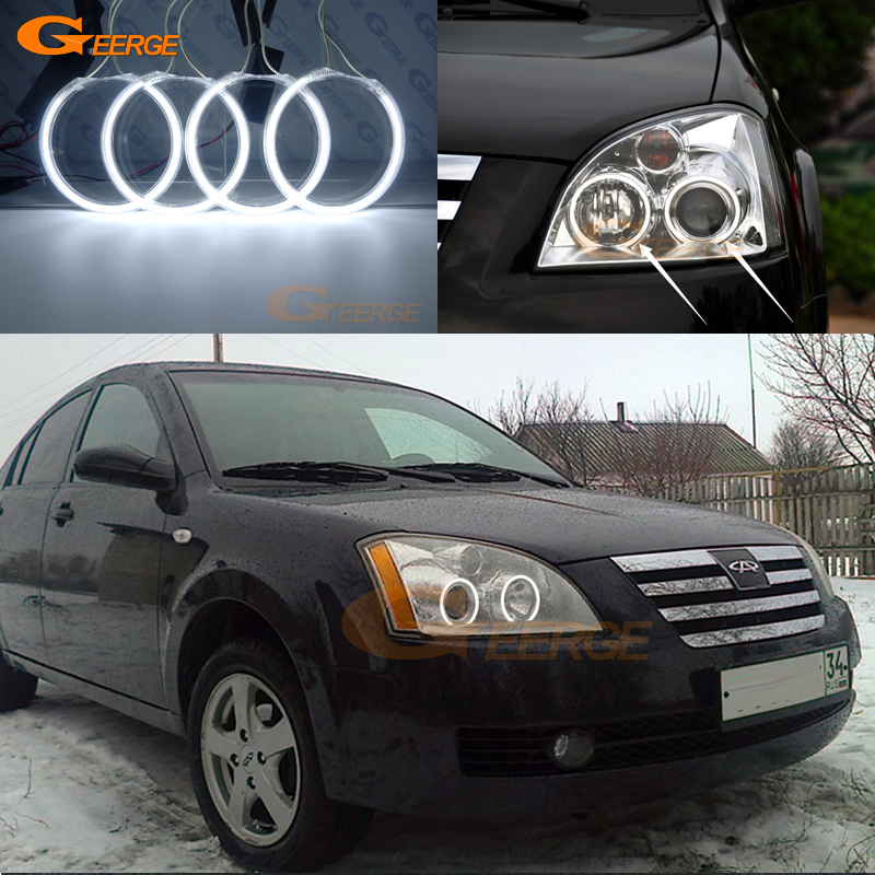 For Chery A5 J5 Fora 2006 2007 2008 2009 2010 Excellent Ultra bright illumination CCFL Angel Eyes kit Halo Ring