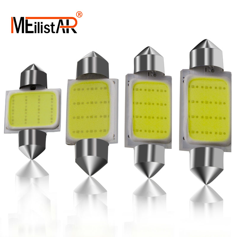 MEILISTAR Car led White 12Chips COB C5W Car Auto Festoon Dome Interior LED Lights Lamp Map Roof Reading Bulb DC12V 31/36/39/42mm цены