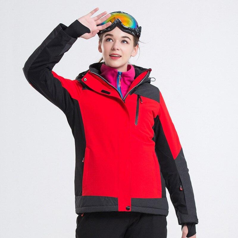 Nouveau plein air hiver Snowboard costume pour les femmes Ski costumes coupe-vent imperméable chaud respirant épais femme randonnée veste de neige