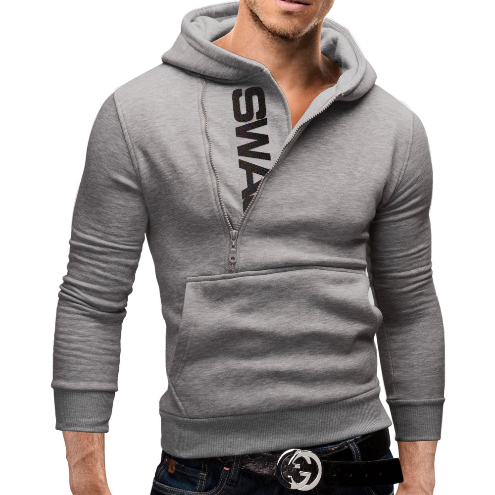Hoodies Men 2017 Brand Male Long Sleeve Hoodie Side Zipper Letter ...