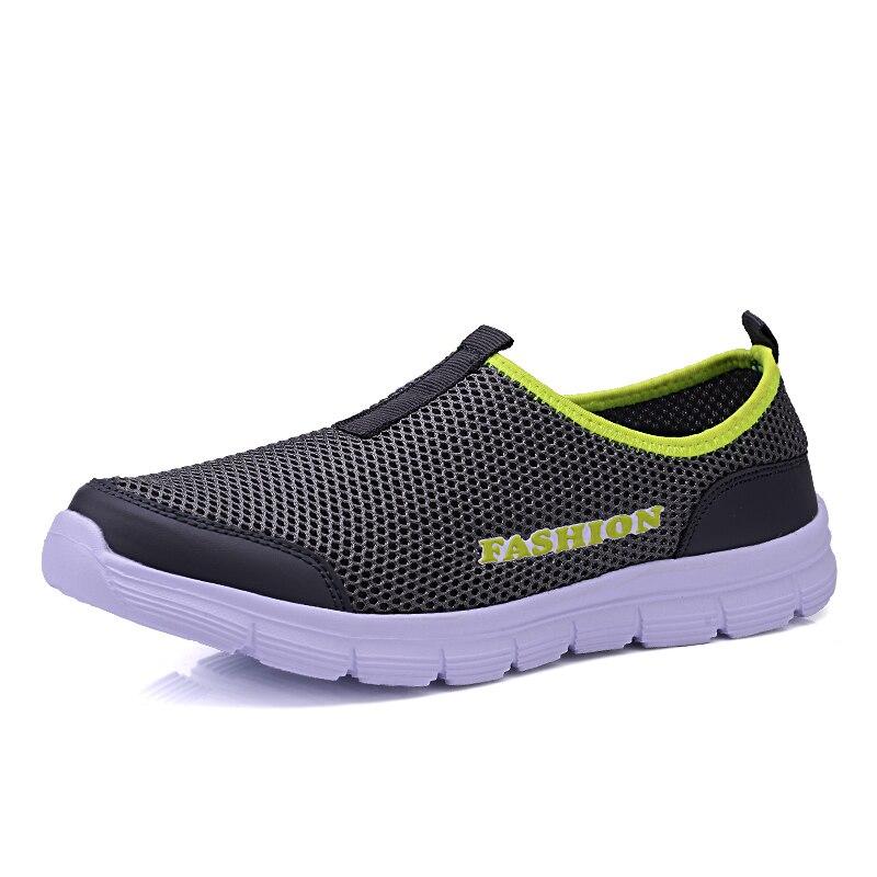 Men Shoes 2018 Autumn / Summer Fashion Breathable Network Men Casual Shoes Slip-on High Quality Flat Mesh Shoes Plus Size 35-46 стоимость