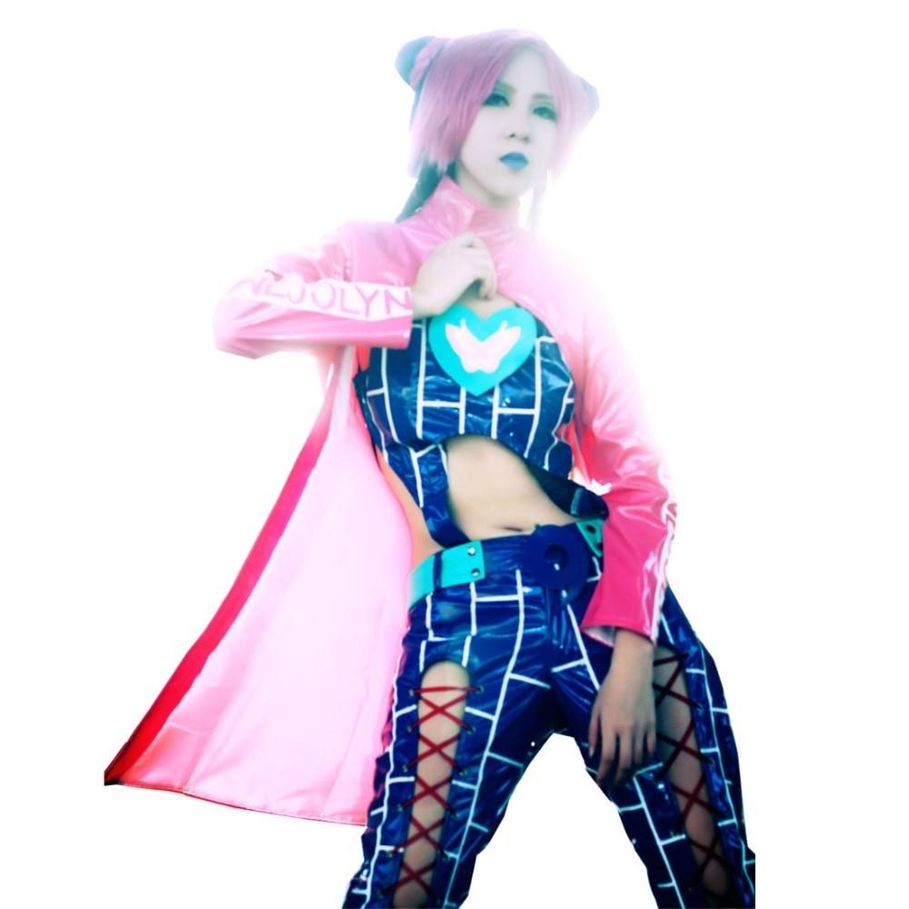 2018 Jolyne Cosplay Costume From JoJo's Bizarre Adventure Halloween Costumes Custom Made
