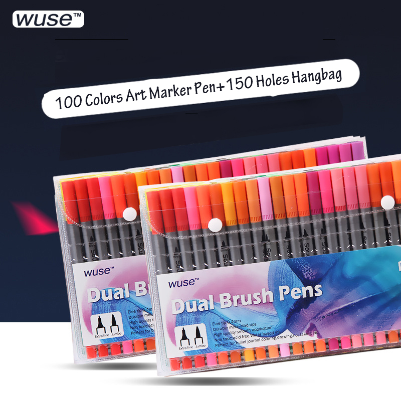 TOUCHNEW Art Markers 36/60/100 Colors Artist Dual Headed Marker Set Manga Design School Drawing Sketch Markers Pen Art Supplies sta alcohol sketch markers 60 colors basic set dual head marker pen for drawing manga design art supplies