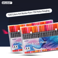 TOUCHNEW Art Markers 36 60 100 Colors Artist Dual Headed Marker Set Manga Design School Drawing