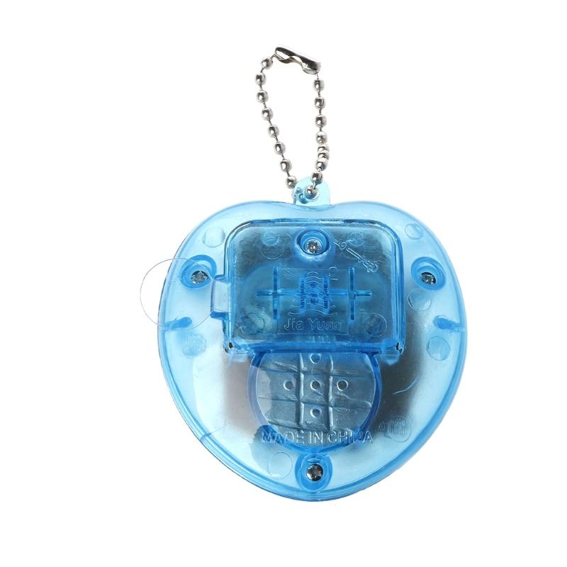 Cute Heart Shape LCD Virtual Digital Pet Electronic Game Machine With Keychain