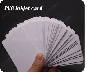 Image 2 - 100光沢ホワイトブランクインクジェット印刷可能なpvcカード防水プラスチックidカード名刺いいえチップエプソン用キヤノンプリンタ