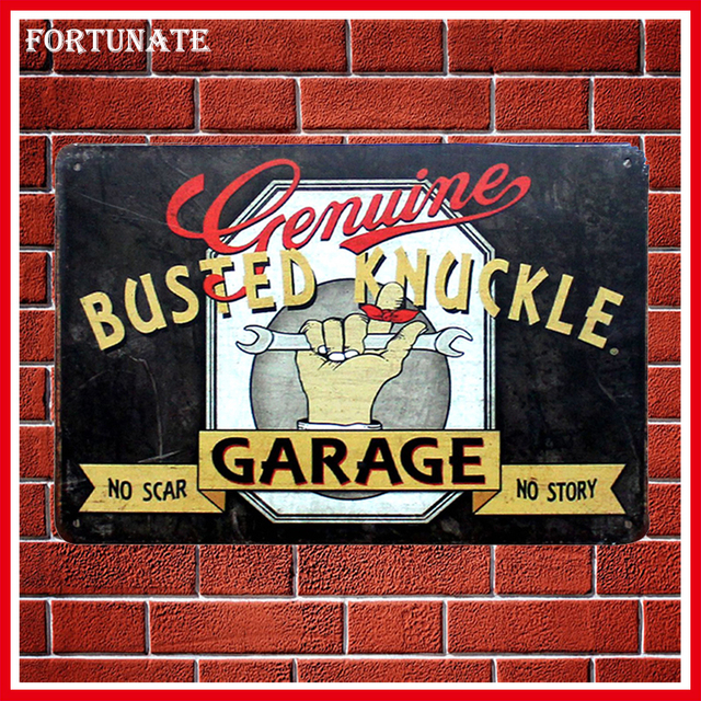 Hot Busted Knuckle Garage Vintage Metal Signs Home Decor Vintage Tin Signs  Pub Vintage Decorative Plates