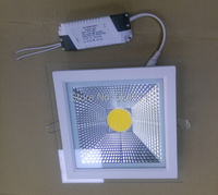 Free Shipping Dimmable 5W 10W 15W LED COB Glass Panel Light Recessed Cabinet Wall Lamp White