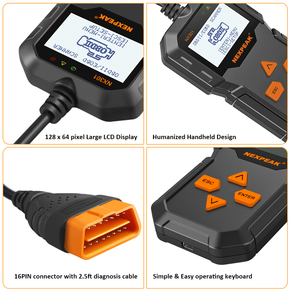 Image 5 - OBD2 Automotive  Auto Diagnostic Scanner Full OBD Modes Scan Tools Car Code Reader  Diagnostic Car ODB 2 Pk AD310 ELM327-in Code Readers & Scan Tools from Automobiles & Motorcycles