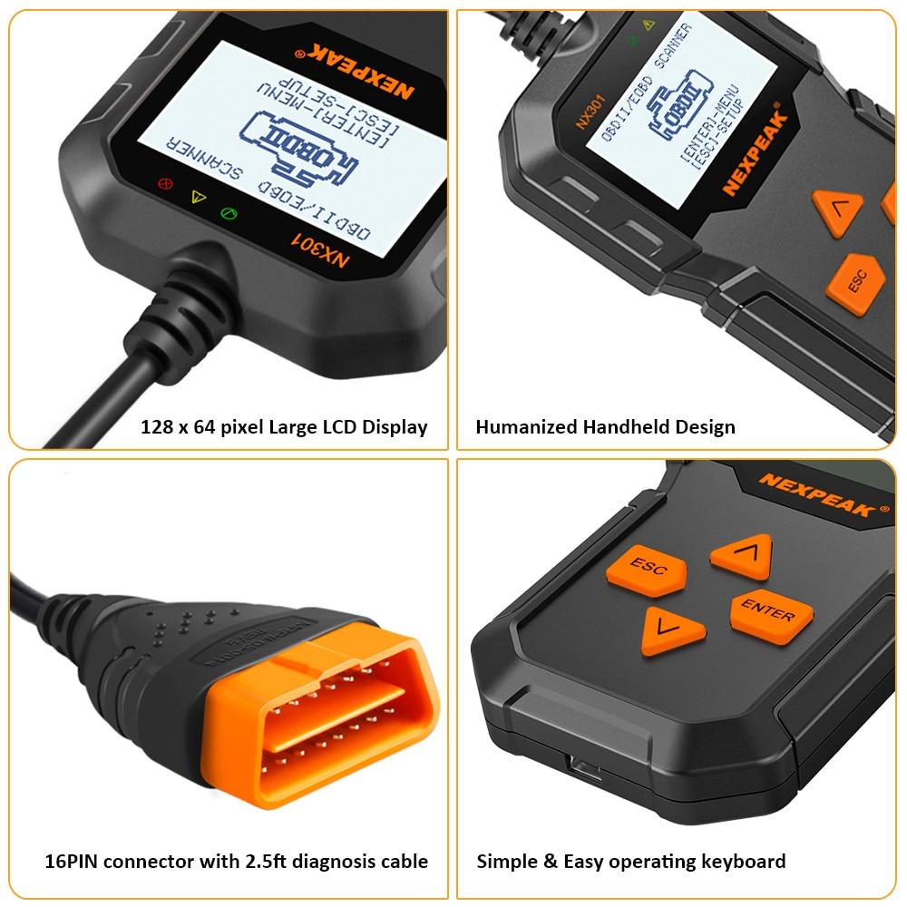 Image 5 - OBD2 автомобильный диагностический сканер полный OBD режимы сканирования инструменты считыватель кодов автомобиля диагностический Автомобиль ODB 2 Pk AD310 ELM327-in Считыватели кодов и сканирующие инструменты from Автомобили и мотоциклы