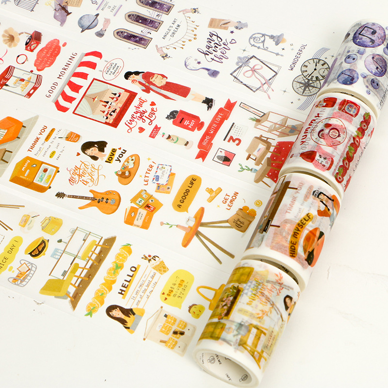 Infeel.me 60mm X 5m Kawaii Japanese Wide Masking Paper Washi Tape Stickers Scrapbooking Cute Stationary Office Craft Supplies