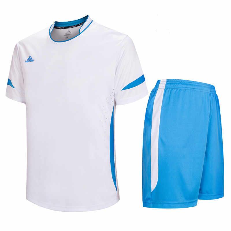 LIDONG Novos Homens Uniformes De Futebol camisas de futebol Jerseys 2018 voetbal trainingspakken maillot de foot Nome Personalizado Números