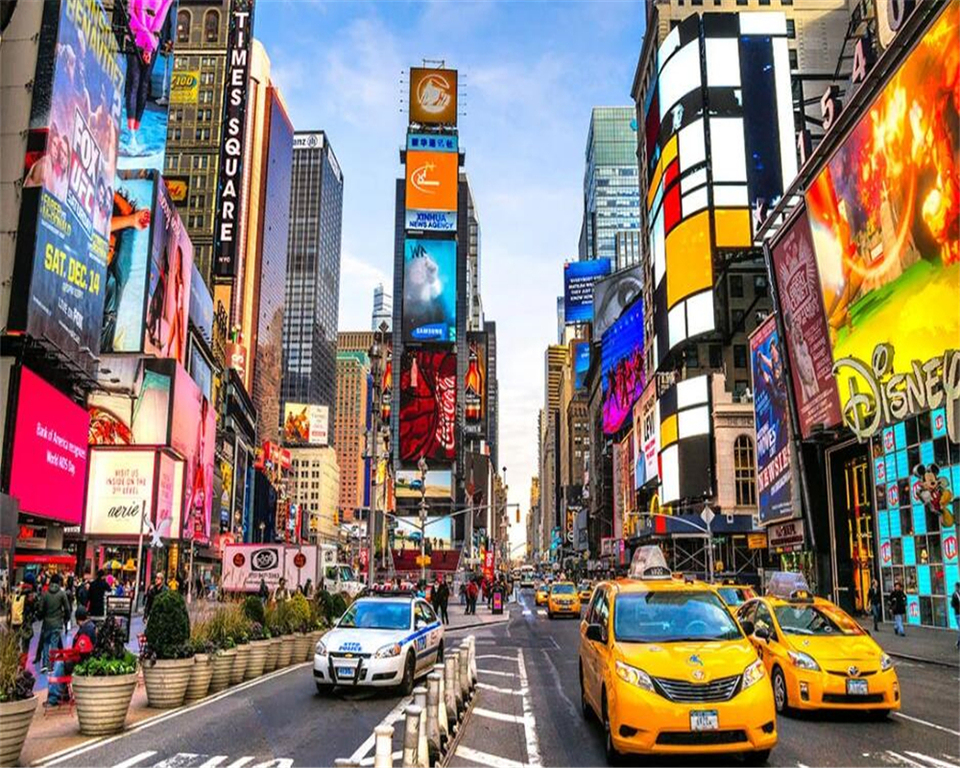 Beibehang Wallpaper New York Modern Street View Architecture Times Square Tv Background Wall Restaurant Decorative Painting Fashion Wallpaper Style Wallpaperwallpaper Fashion Aliexpress