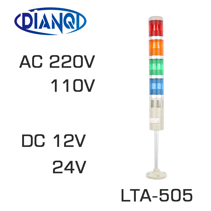 LED lamps DC12V/24V Safety Stack Lamp Flash Industrial Tower Signal warning Light LTA-505 Red green yellow blue lta 505 dc24v 4 layers led signal tower light alarm indicator lights led tower lamp