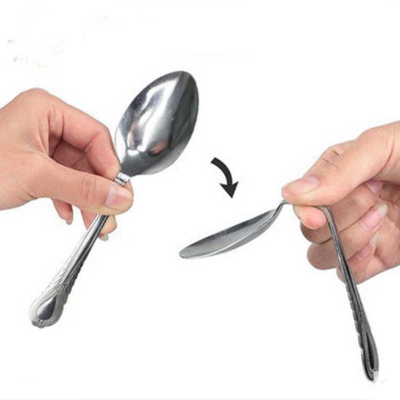 BEND Spoon Bending Magic Tricks Street Close Up Magic Tricks ครอบครัวเด็กผู้ใหญ่ Magic Joke Toy E3036