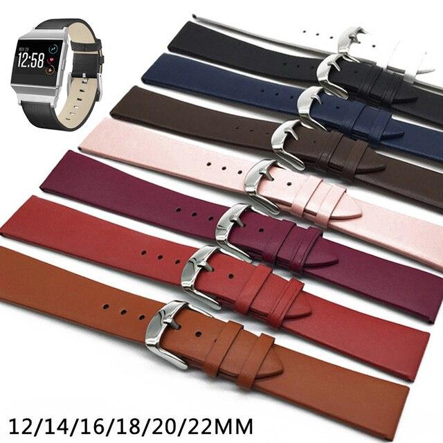 Luxfacigoo 12/14/16/18/20/22mm Watch Band Cinturino In Pelle Di Mucca Cinturino