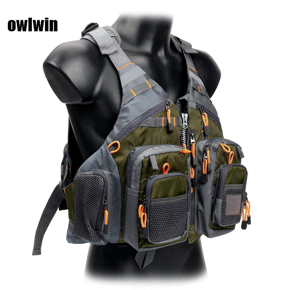 Owlwin Life Vest Life Jacket Fishing Outdoor Sport Flying  Men Respiratory Jacket Safety Vest Survival Utility Vest