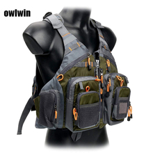 цена на Owlwin life vest life jacket fishing outdoor sport flying  men respiratory jacket safety vest survival utility vest