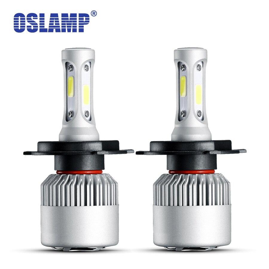 Oslamp Hallo-Lo Strahl 72 Watt 2 teile/los H4 Led-scheinwerfer Kits 6500 Karat COB Auto Led H4 Autolampen mit Lüfter Für BMW VW Golf Peugeot