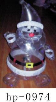 Navidad inflable Santa Claus muñeco de nieve ciervos decoración de Navidad para el hogar niños juguetes inflables juguetes de Navidad - 2