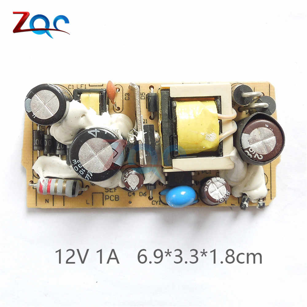 AC-DC 12 V 1A 1000MA/1.2A 1200MA Switching Power Supply Papan Sirkuit DC Tegangan Regulator Modul untuk Monitor 110 V 220 V 50/60Hz