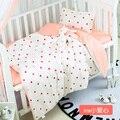 Neue design baby bettwäsche set Abnehmbare Baumwolle Krippe Bettwäsche Kit Junge Mädchen Cartoon cuna colecho  duvet/Blatt/Kissen  mit füllung-in Bettwäsche-Sets aus Mutter und Kind bei