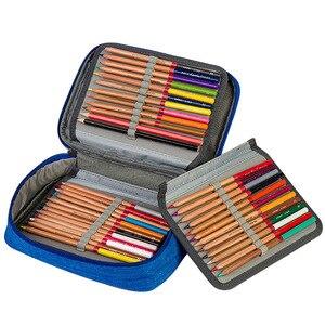 Image 5 - 소녀를위한 캔버스 학교 연필 케이스 소년 72 구멍 펜 상자 다기능 보관 가방 케이스 파우치 학생 문구 용품