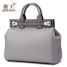 Qiwang High Qualty Real Leather Handbag Women Genuine Leather Tote Handle Bags Luxury Fashion Brand Designer Bag for female qiwang women design bag brand designer luxury women fashion handbag bags fashion luxury ol tote bag for office women