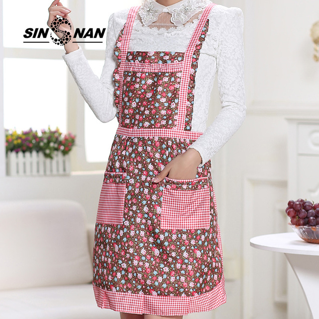 kitchen aprons child play sinsnan peach skin double fabric lace for women baking accessories chef waiter cook apron dress home pinafore