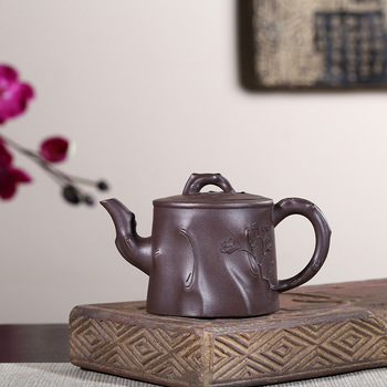Full Manual Raw Ore Old Purple Ink For Imprinting Of Seals Stump Plum Blossom Kettle Kungfu Online Teapot Tea Set Wholesale