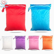 Herbabe Baby Diaper Bags 30x40cm Double Pocket Waterproof Tote Bag for Mom Baby Outdoor Travel Wet Dry Bag Reusable Nappy Cover print wet bag waterproof baby cloth diaper bag pul wholesale pocket zipper reusable baby nappy diaper rubbish wet bag 30x40cm