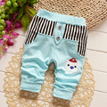 2016 New Hot Summer Baby Girl's Jeans Fashion Girls Boys Cartoon Bear Sports Pants Spring Autumn Kids Trousers 7-24M